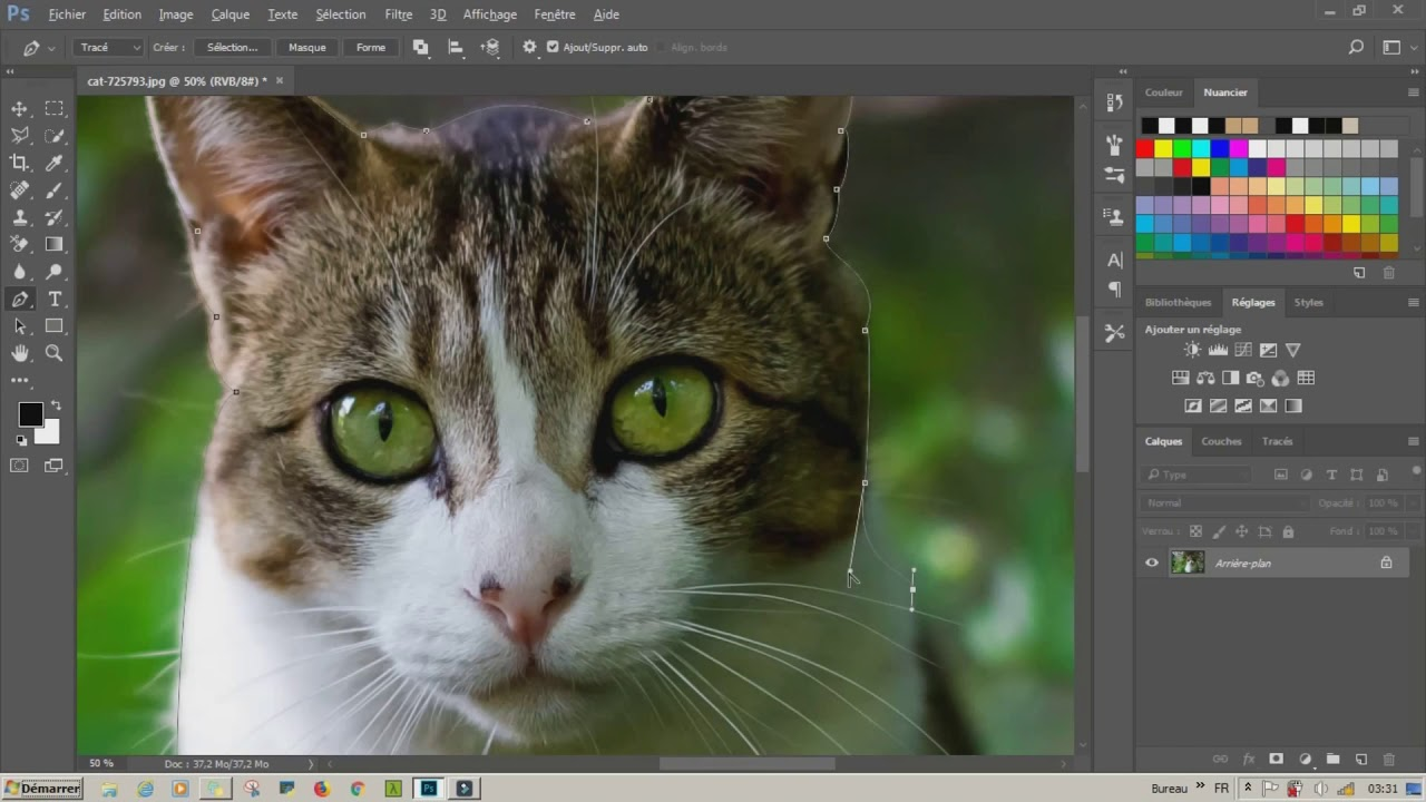 Copie de photoshop cc fond noir et blanc image couleur youtube