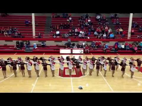 """Ottawa Township High School Poms and Shepherd Middle School Poms - """"Tongue Tied"""" - January 24, 2015"""