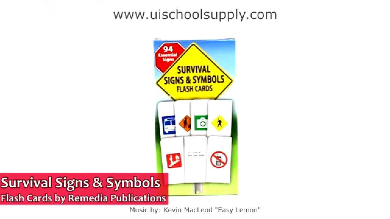 Survival Signs Symbols By Remedia Publications Rem181 Youtube