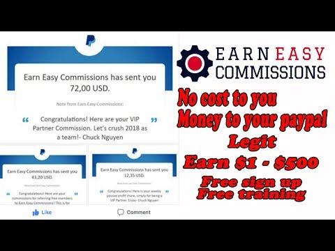 How to make Free Money with PayPal Legit, auto pilot earn easy commissions