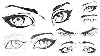 How to Draw Comic Style Eyes - Step by Step ( Promo )
