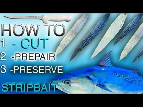 Preparing Bonito STRIPS For Fishing, Trolling, Rigging Kingfish, Mahi, Bait