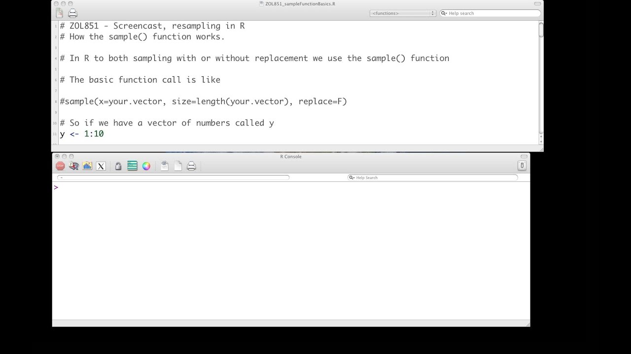 Using the sample function in R for resampling of data - absolute ...