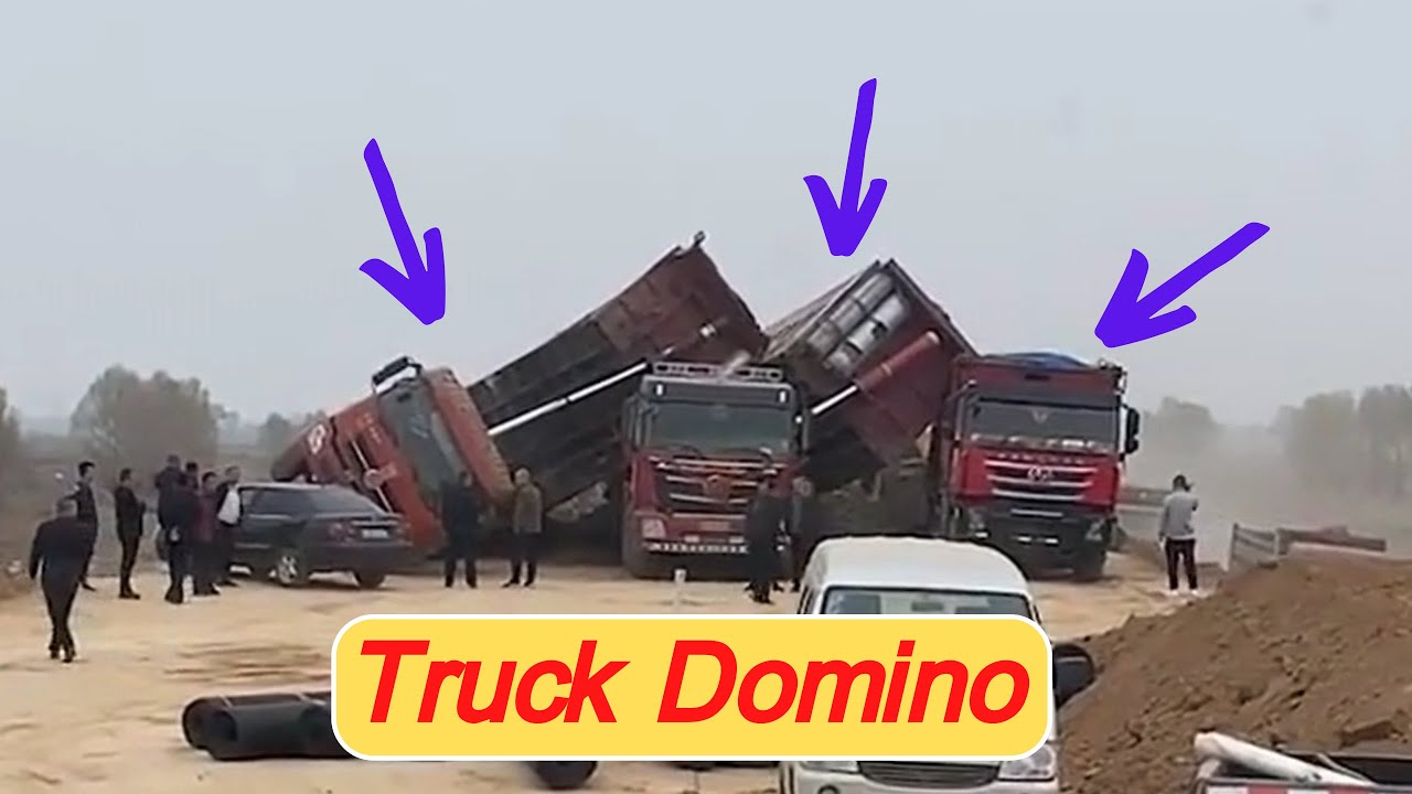 Top dangerous moments of truck driving, idiot operation of heavy duty trucks