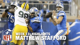 Matthew Stafford Highlights (Week 13) | Packers vs. Lions | NFL