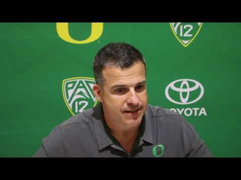 Oregon head coach Mario Cristobal post-WSU loss