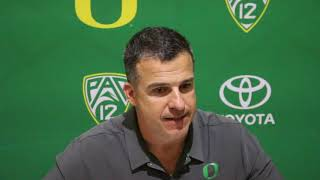 Oregon head coach Mario Cristobal post-WSU loss