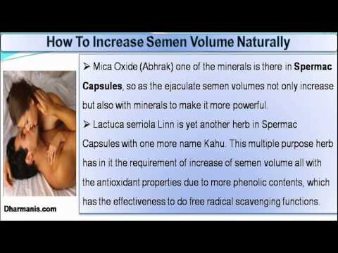 How to ejaculate more sperm volume