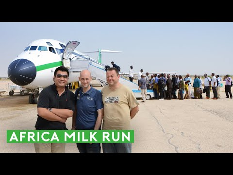 Africa Milk Run: Flying 46 Years Old DC-9 and an MD-80 in the Cockpit