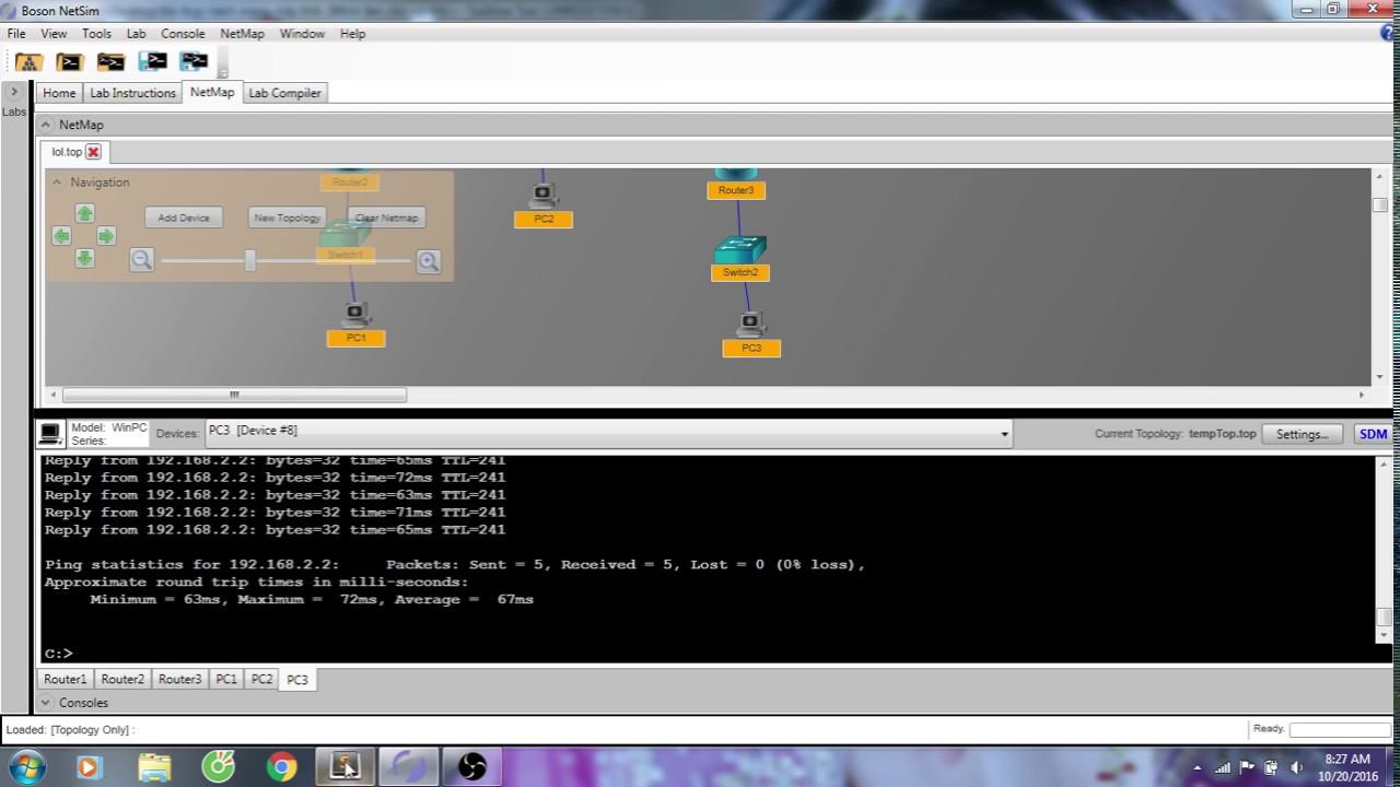 Thực hành Mạng máy tính Boson Netsim (lopper)