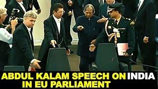 APJ Abdul Kalam Inspiring Speech on India at European Parliament