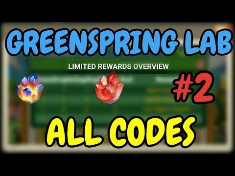 Greenspring Lab #2 L All Codes L Castle Clash