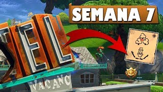 How TO COMPLETE ALL THE CHALLENGES OF WEEK 7 in FORTNITE! Secret Star, Road Trip!