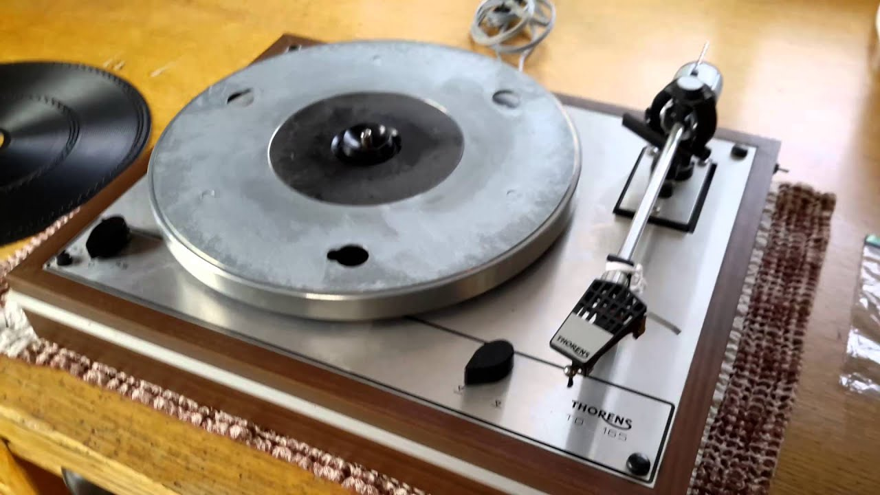 vintage thorens td 165 turntable for restoration youtube. Black Bedroom Furniture Sets. Home Design Ideas