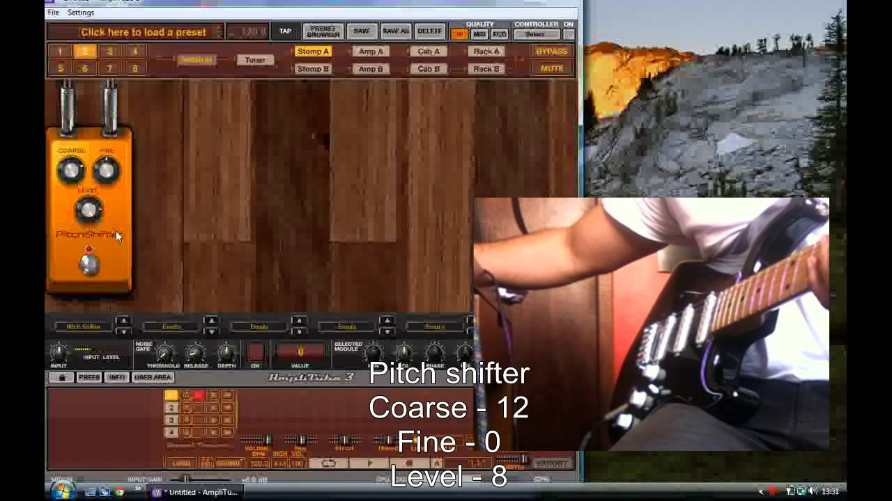 how to create a guitar shimmer effect using a delay pedal and amplitube tutorial youtube. Black Bedroom Furniture Sets. Home Design Ideas