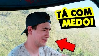ELE FICOU COM MEDO DO BONDINHO | MMB VIAJA