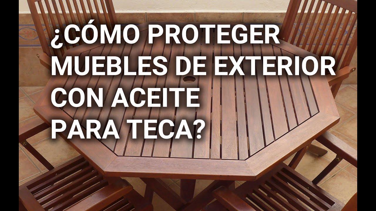 ¿Cómo proteger muebles de exterior con aceite para teca?