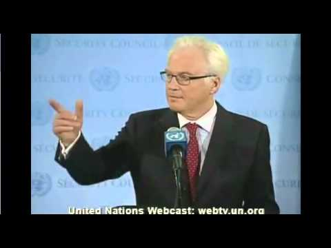 Vitaly I. Churkin (Russian Federation) on Syria - Security Council Media Stakeout (20 July, 2012)