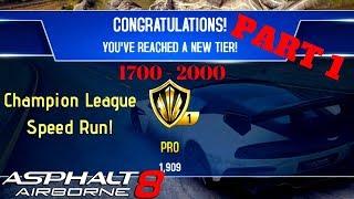 Asphalt 8 Multiplayer Speed Run to Champions League Part 1