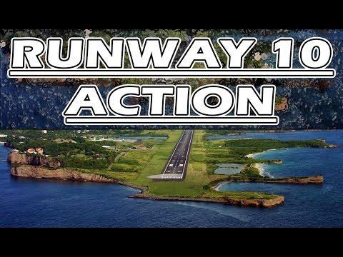 RUNWAY 10 ACTION - Liat, Jetblue, Amerijet, Air Canada, Virgin Atlantic, Condor and Private Jet