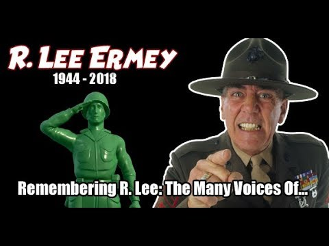 R. Lee Ermey R.I.P. TRIBUTE  In Memoriam The Many Voices  Characters of...