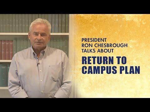 President Chesbrough on Cazenovia College's Fall 2020 Return To Campus