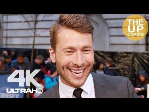 Glen Powell  at The Guernsey Literary and Potato Peel Pie Society premiere