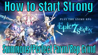 Epic Seven: How to start strong/14 Summons/Perfect Farm/Reputation Grinding/My Team