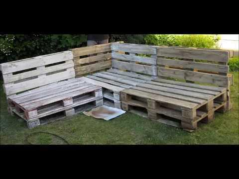 Sofa de pallet completo rea externa tutoriais for Sofa exterior jardim