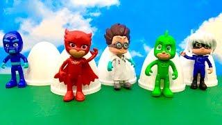 PJ Masks and Surprise Eggs ♂️ आश्चर्य अंडे खिलौने