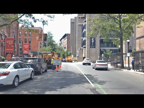 Driving Downtown - Yale & New Haven 4K - USA
