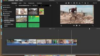 Split, Trim and Delete Clip- iMovie