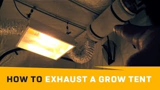 Grow Tent - Passive Outtake Air Vs. Aggressive Air Flow | How To Exhaust Grow Tent Veting Grow Box