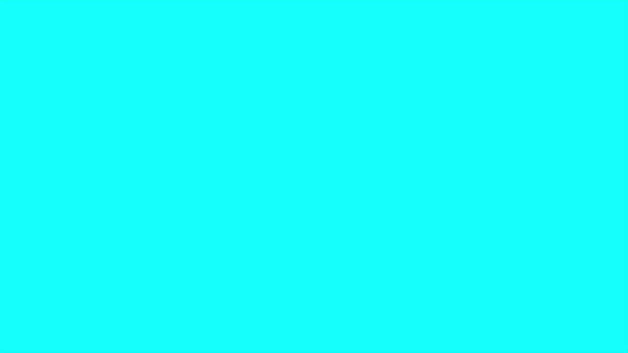 CYAN SCREEN FOR 10 HOURS