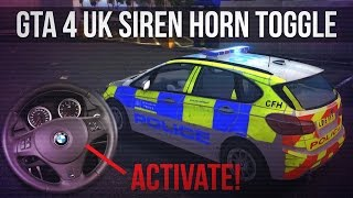 GTA IV - Siren Activated With Horn Like British Police - DEMO
