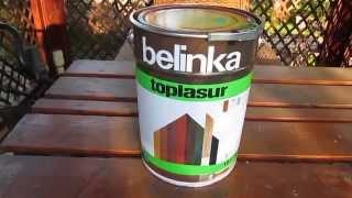 видео Белинка (Belinka) Топлазурь, Лазурь - пропитки, краски для дерева. Продажа в Москве