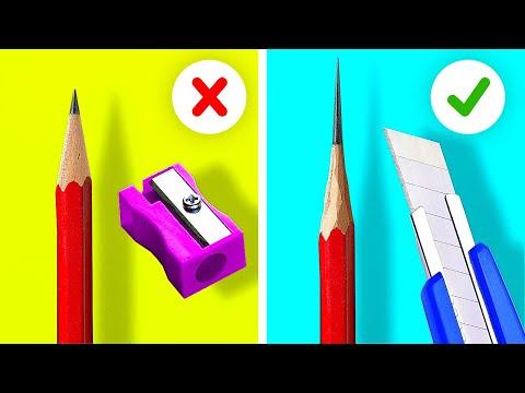 40 BRILLIANT SCHOOL HACKS    5-Minute Tips For Smart Students
