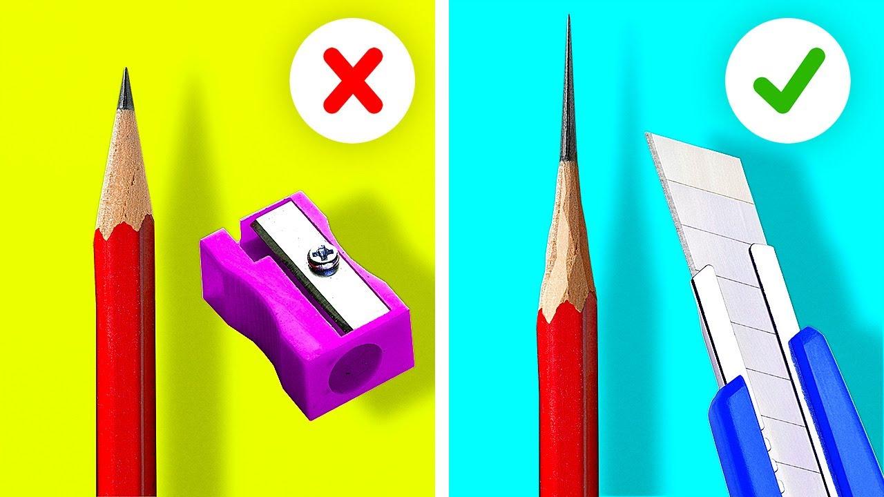 40 BRILLIANT SCHOOL HACKS || 5-Minute Tips For Smart Students