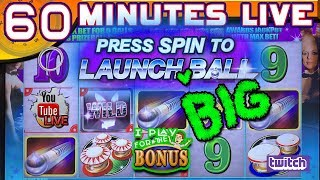🔴 60 MINUTES LIVE ★ PLAYBOY PRIZEBALL ★  LIVE FROM THE SLOT MUSEUM