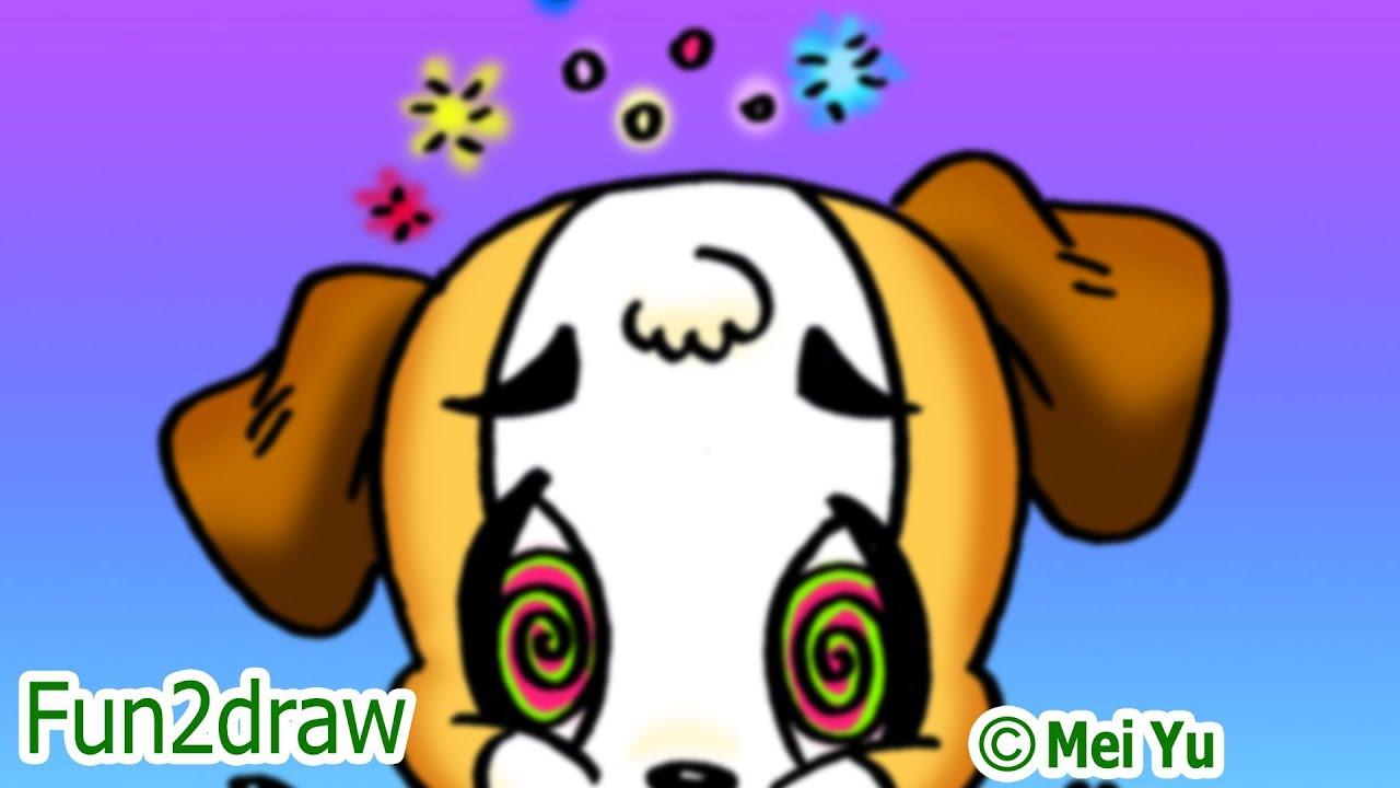 fun2draw dog eating homework