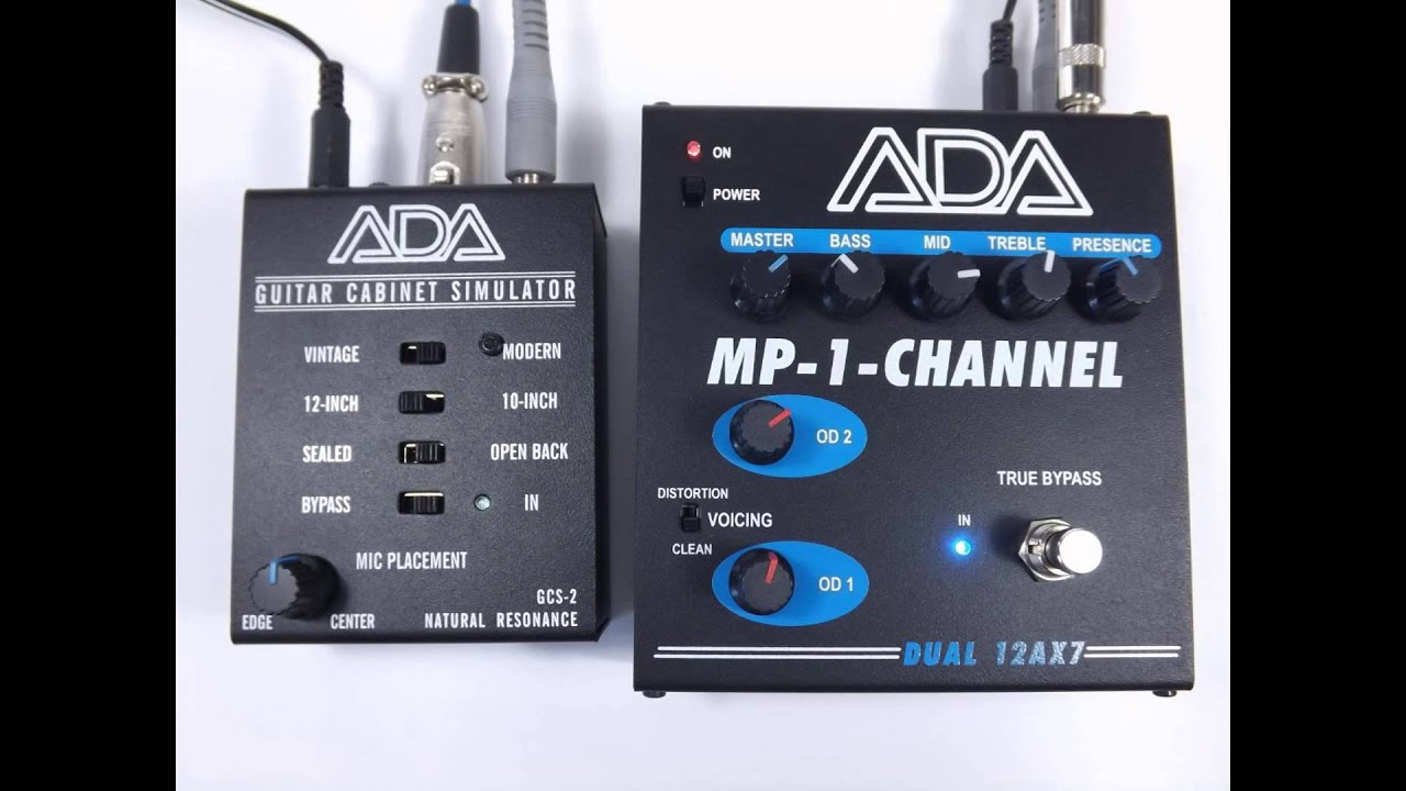 ADA MP-1-CHANNEL and GCS-2 direct recording clips - YouTube