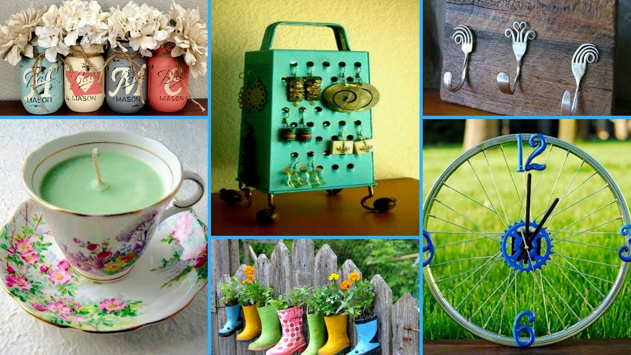 60 creative ideas to reuse old things diy recycled home for Diy crafts with things around the house