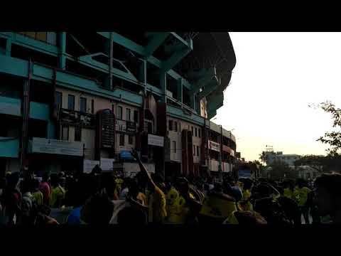 Celebration outside Jawaharlal Nehru Stadium ISL opening