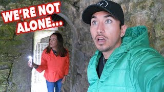 CREEPY OLD ABANDONED CEMETERY IN IRELAND w/ mom *CHASED OUT*