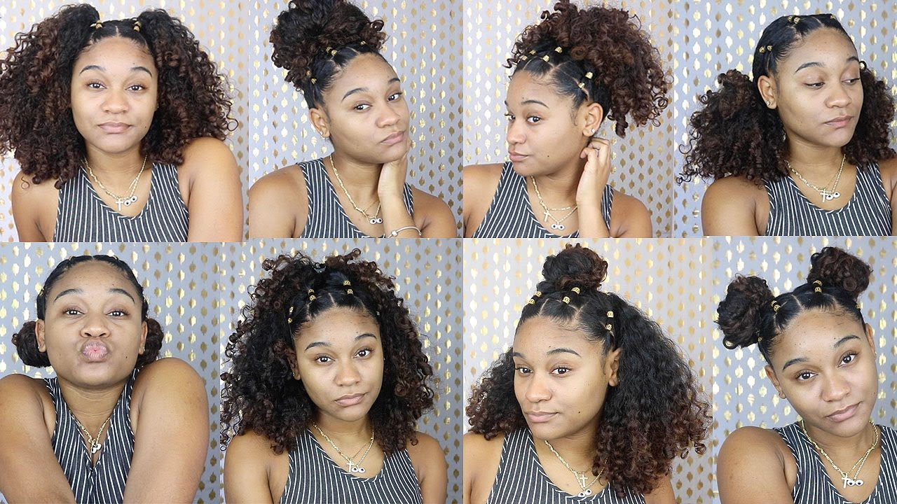 More Easy Hairstyles for Natural Curly Hair - YouTube