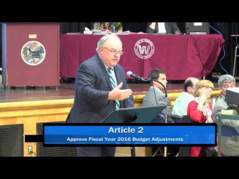 Westford, MA Special Town Meeting, October 19, 2015