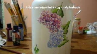 Pintando no vidro – Parte 1/3 – folhas – Painting on the glass – Part 1/3