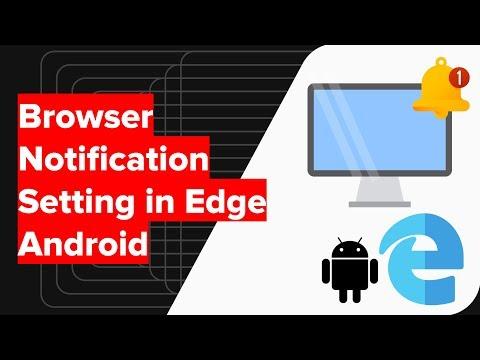 How to Enable or Disable Notifications in Edge Android Settings?