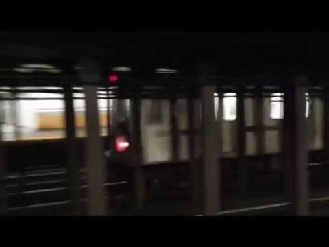 Bronx/Bowling Green-bound R142/R142A (5) and (6) trains at Bleecker St. (IRT Lexington Avenue Line)