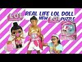 NEW LOL SURPRISE PUZZLE/REAL LIFE LOL DOLL/UNBOXING MORE BIG SISTERS SERIES 2